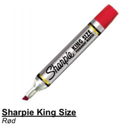 Sharpie King Size Rød