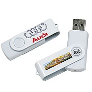 USB Minne 8GB Twist hvit
