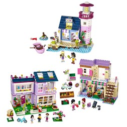 Lego Friends Emmas hus, frisør og marked