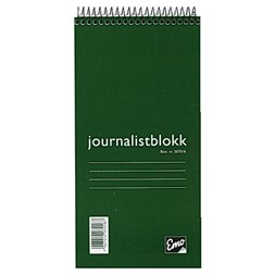 Journalistblokk EMO 105x210mm lin